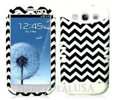KoolKase Hybrid Silicone Cover Case for Samsung Galaxy S3 - Navy Blue Chevron 98