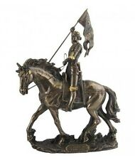 JEANNE D ARC A CHEVAL BRONZE STATUE SCULPTURE