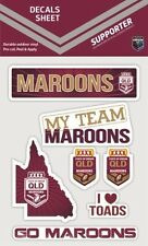 620388 QUEENSLAND MAROONS STATE OF ORIGIN SET OF 7 MIXED DECALS STICKERS SOO QLD