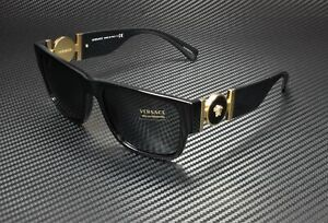 VERSACE VE4369 GB1 87 Black Grey 58 mm Men's Sunglasses