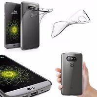 Ultra Slim Transparent Lightweight Soft Gel Silicon Back Case Cover For LG G5