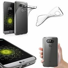 Slim Clear Transparent Soft Gel Silicon Back Case Shell Skin For LG G5
