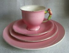 "ROYAL WINTON Grimwades TRIO Place Setting ""cup ai"" ROSEBUD Pink Colorway c 1934!"