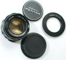 PENTAX Asahi Super-Takumar 50mm 1.4 M42 Lens, w/Canon Mount Adapter