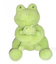 Doudou peluche GRENOUILLE verte Ca Credit agricole avec son bebe 30cm