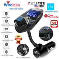 Wireless In-Car FM Transmitter MP3 Radio Adapter Car Kit USB Charger Hands-Free