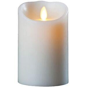 "Darice LM355B 5"" Luminara Realistic Artificial Flame Pillar Candle w/ REMOTE"