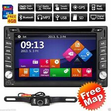 US GPS Navigation 2Din HD Car Stereo DVD Player Bluetooth Auto Radio iPod+Camera