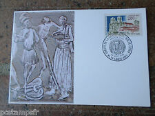 FRANCE 1993, CM 1° jour FDC, ABBAYE CHAISE-DIEU, timbre 2825, VF POSTAL CARD FDC