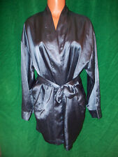 Victoria's Secret dusty green short attached belt robe sz one size NICE Preowned