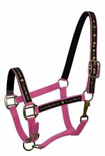 "PINK Nylon Horse Halter with ""I Love My Horse"" Overlay! NEW HORSE TACK!"