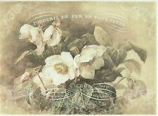 Carta di riso per decoupage, foglio di album, artigianale Bianco Gardenia