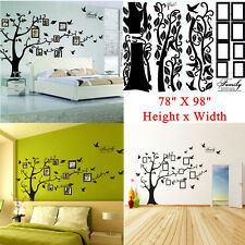 """Large 78""""X99"""" Photo frame Family Tree Removable Wall Decal Stickers Home Decor B"""