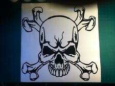 Skull and Crossbones Hood Decal car truck trailer large graphic vinyl sticker