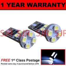 W5W T10 501 CANBUS ERROR FREE WHITE 8 LED SIDELIGHT SIDE LIGHT BULBS X2 SL101605