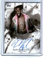 WWE Kofi Kingston 2018 Topps Undisputed On Card Autograph SN 126 of 199