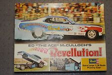 1/16 SCALE REVELL ED THE ACE McCULLOCH'S REVELLUTION! DEMON FUNNY CAR