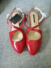 Zara New Ladies / older girls red flat shoes size 4