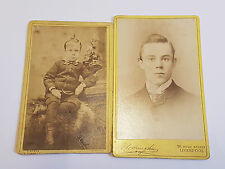 Pair Of Antique Victorian CDV Cards Photographs - People & Portraits