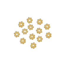 20 Gold Plated Sterling Silver Daisy Beads 4mm #99734
