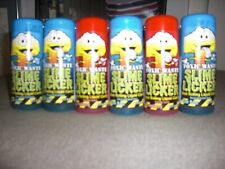 TOXIC WASTE SLIME LICKER BRAND NEW 6 PIECES 4 BLUE RAZZ AND 2 STRAWBERRY