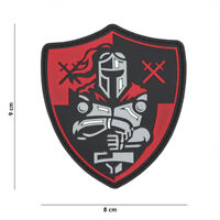 Morale Patch 3D PVC Knight shield red  AIRSOFT SOFTAIR crusader 11139