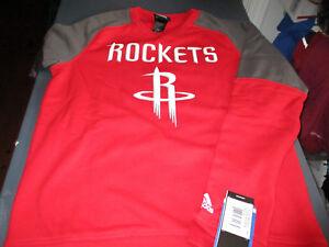 NWT!  ADIDAS HOUSTON ROCKETS NBA KIDS  CREWNECK SWEATSHIRT RED MEDIUM (10/12)