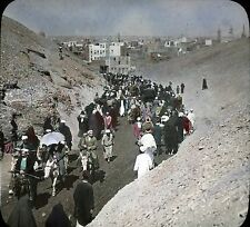 Keystone View Co. Glass Slide Color Tinted - Pil. of Festival Elidel Kabir #9811