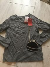 Nwt Gymboree Tres Fabulous Grey Black Purse Top Size 6 Holiday Trendy  Christmad