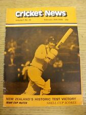 25/02/1978 Cricket News: Vol.01 No.25 - A Weekly Review Of The Game, New Zealand
