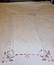 """VINTAGE EMBROIDERED DESIGN TABLECLOTH 67"""" X 84"""""""