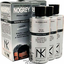 3 x 200ml Nogrey ® Elio Antigrey Nicky Chini Lotion Elimina Grigio Riporta Color