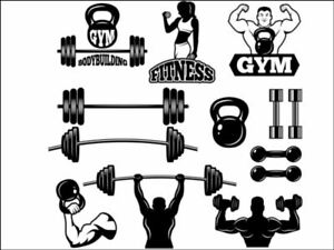 silhouette crossfit weightlifting Edible Printed Cake Topper Kit Wafer or Icing