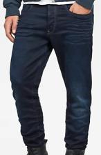 G-Star 3301 Tapered Hadron Denim Dk Aged Jeans Mens Size 33W 32L *REF131-C
