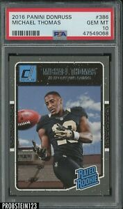 2016 Donruss #386 Michael Thomas Saints RC Rookie PSA 10 GEM MINT
