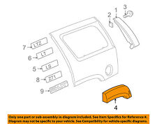Chevrolet GM OEM Tahoe Ext-Wheel Well Fender Flare Arch Molding Right 15944826