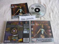 Tomb Raider 1 original PS1 (COMPLETE) platinum Sony PlayStation rare Lara Croft