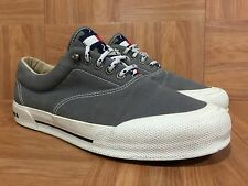 Vintage🔥 Tommy Hilfiger Sailing Gear Sneakers Gray Gum Sole Spell Out Sz 9.5