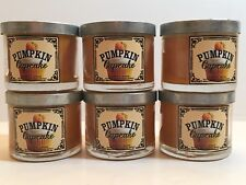 LOT 6 BATH & BODY WORKS HOME PUMPKIN CUPCAKE FILLED SCENTED 1.3 OZ MINI CANDLES