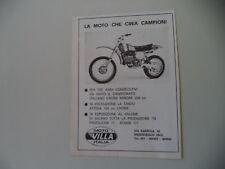 advertising Pubblicità 1977 MOTO VILLA 250 CROSS