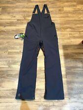 Gray Women's Xl Snow Pants- New Airblaster Sassy Hot Blue Steel Bib w/ Tags