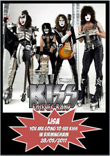 Kiss Forever Rock Band Birthday Concert Ticket Card A5 Personalised own words