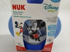 NUK Disney Mickey Mouse Fishing Learner Cup with Silicone Spout 5-Ounce Blue 6M+