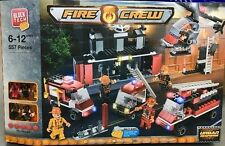 Block Tech FIRE CREW Bricks Construction Crew Project 557 Blocks Pieces Toy Gift