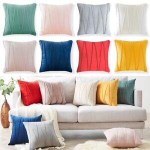 "16""18"" 20"" Christmas Throw Pillow Case Striped Sofa Car Velvet Cushion Covers"