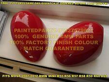 GENUINE BMW GP2 JCW CHILI RED MINI MIRROR COVERS COOPER R55 R56 R57 R58 R59 R60