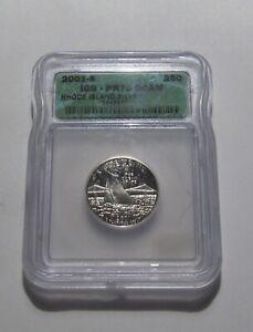 2001 S (Rhode Island) Washington Quarter (Silver) Proof - ICG PF70 Cond - 57RP-2