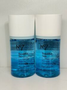 2 x BOOTS NO 7 BEAUTIFUL SKIN EYE MAKE-UP REMOVER ALL SKIN TYPES 100ML BRAND NEW