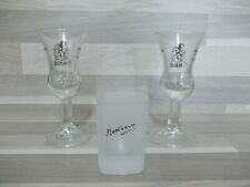 2er set Schnapsglas Bokma Jenever mit Silberdrück + 1 frosted Stamper Glas
