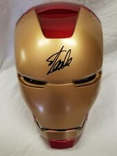SIGNED BY STAN LEE IRON MAN HELMET REPLICA Marvel legends Series AVENGERS Statue